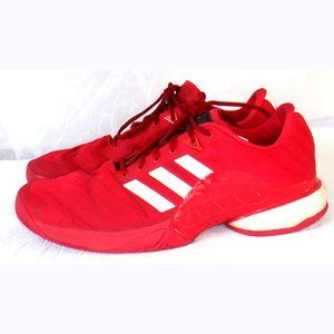 Adidas red Geofit Barricade Code Hitop shoes